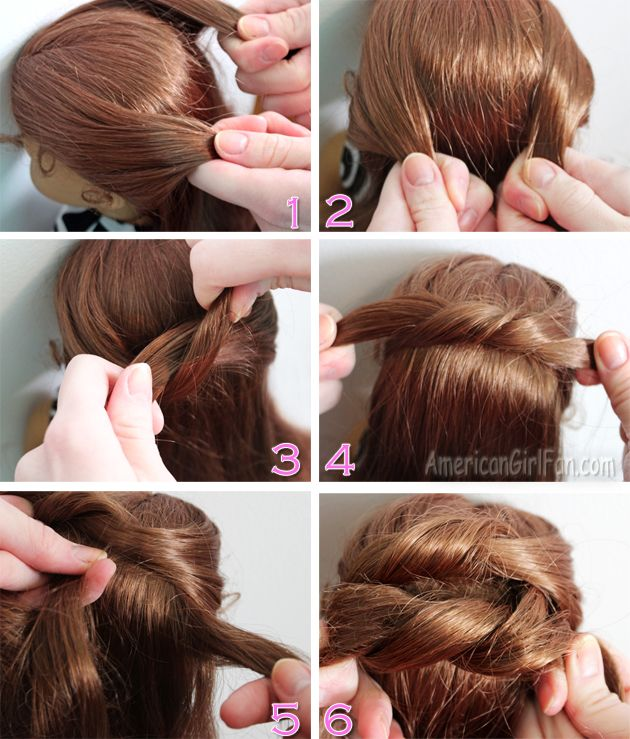 Americangirlfan Doll Hairstyle Easy Knotted Bun American Girl Doll Hairstyles Doll Hair Barbie Hairstyle