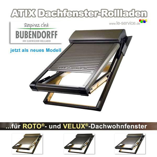 Elektrischer Rollladen Atix Mit Funkmotor 230v Fuer Velux Dachwohnfenster Artikel 192 Mit Bildern Velux Fenster Dach Rollladen