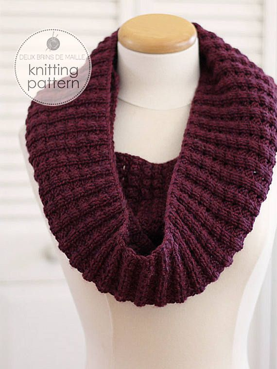 KNITTING PATTERN, The Infinity Puffy Scarf | Infinity ...