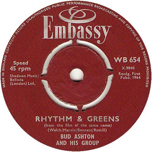 Rhythm And Greens - Bud Ashton And His Group (WB654) Sep '64
