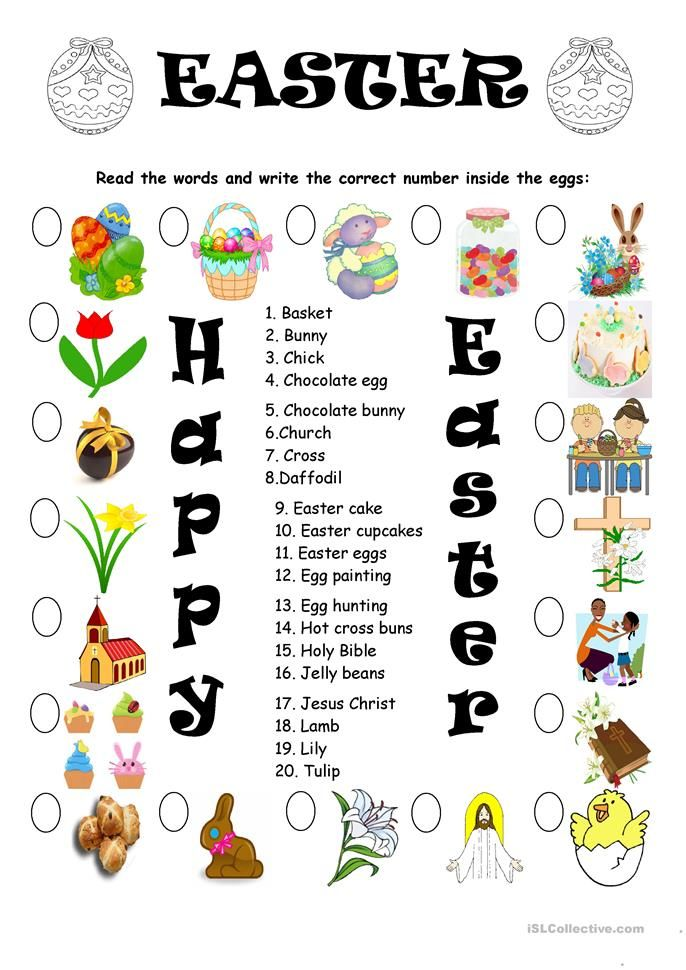 Easter Vocabulary Matching Easter Worksheets Preschool Vocabulary Easter Classroom Teaching easter for preschoolers