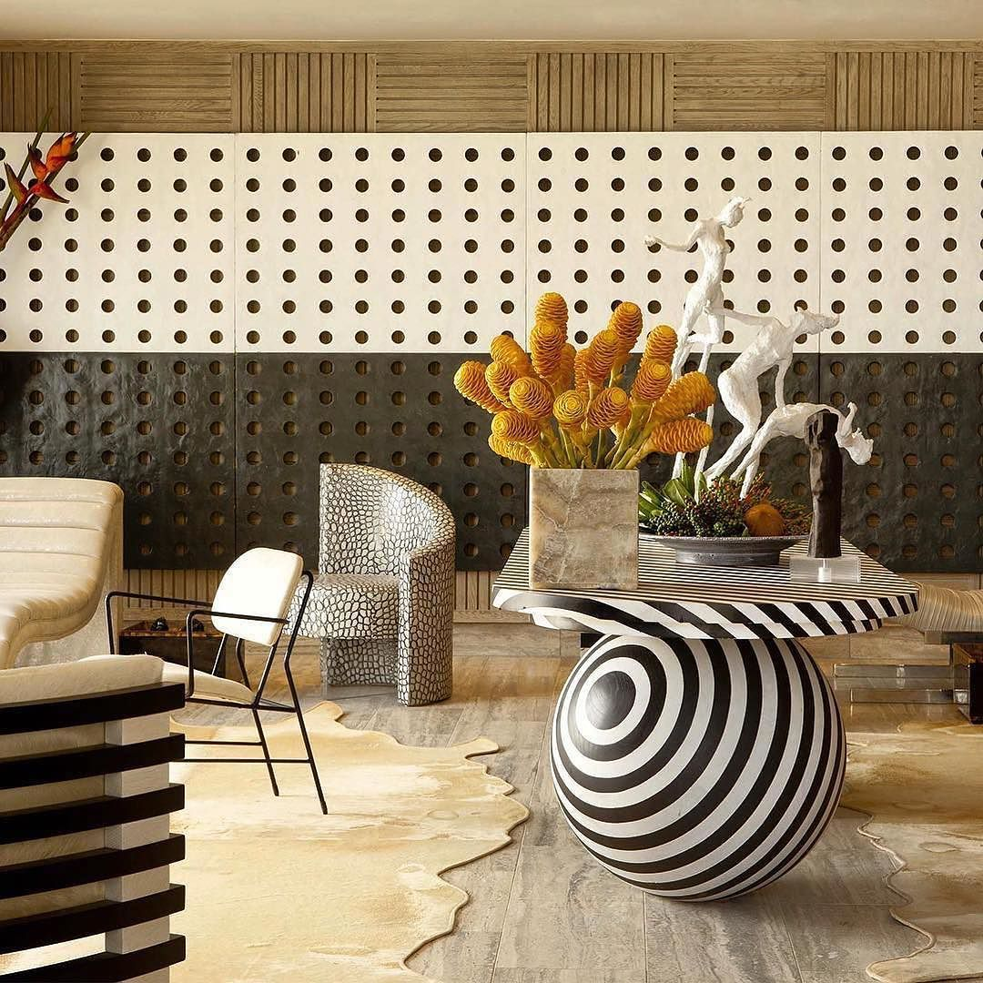 What do you think of the table repost lewisknox playful mix of caribbean cool by kellywearstler love the textures and bold shapes