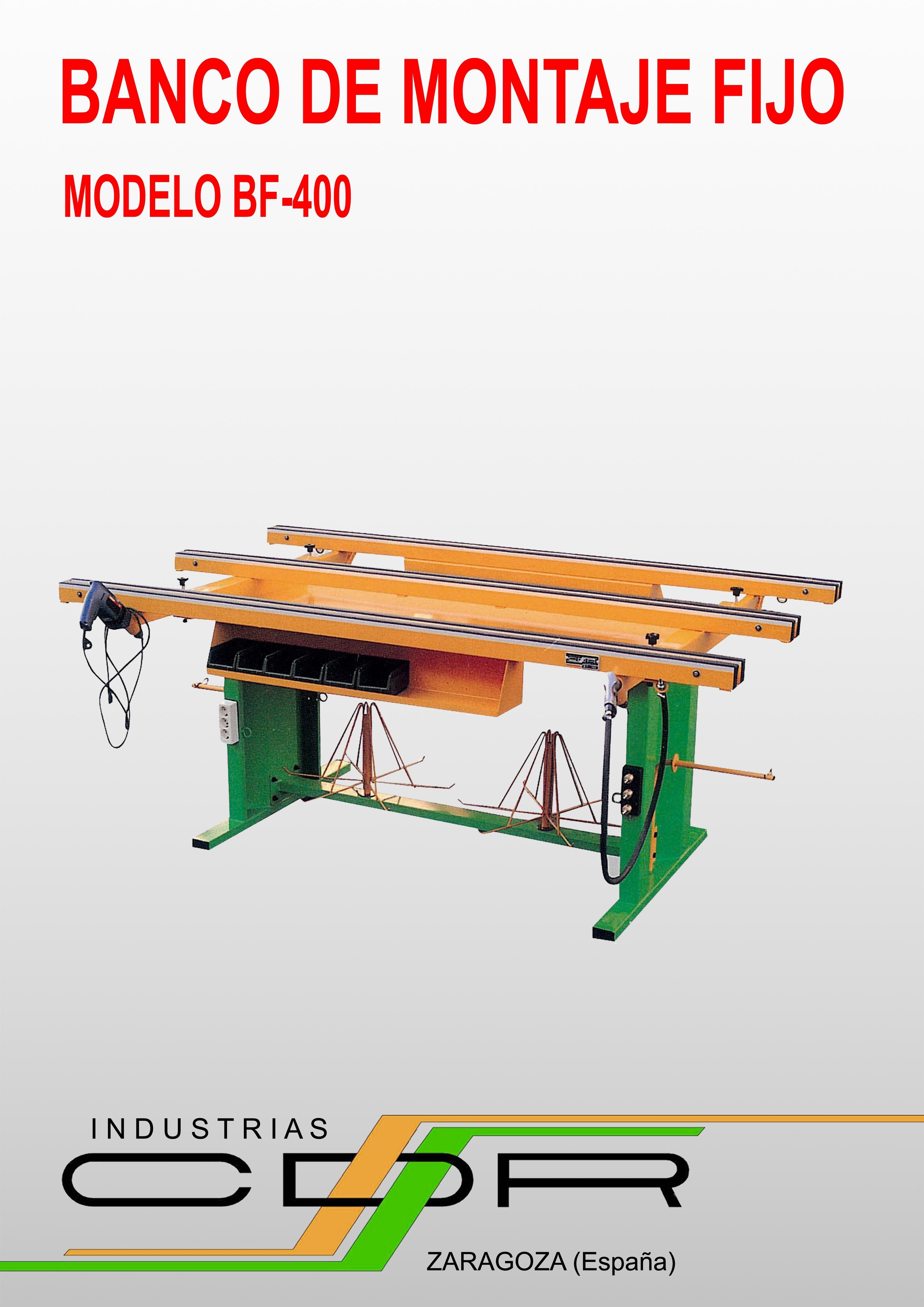 Banco De Montaje Fijo Modelo Bf 400 Catalogos Pinterest  # Tupi Muebles Martinez