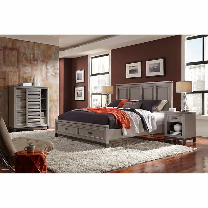 Norah 4-piece King Storage Bedroom Set | Master Bedroom ...