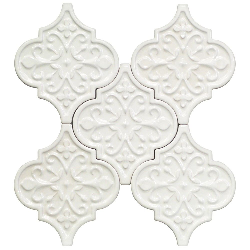 Byzantine florid radiance bianco ceramic tile size 6 14 x 7 14 byzantine florid radiance bianco ceramic tile size 6 14 x 7 1 doublecrazyfo Choice Image