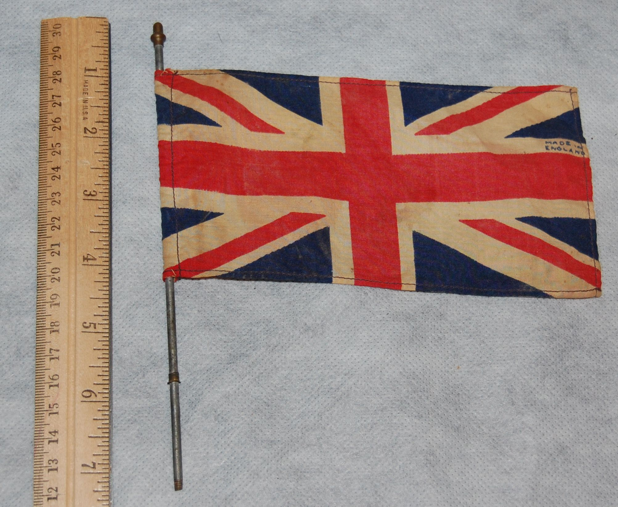 Very Old Union Jack Flag From A Toy Set Just