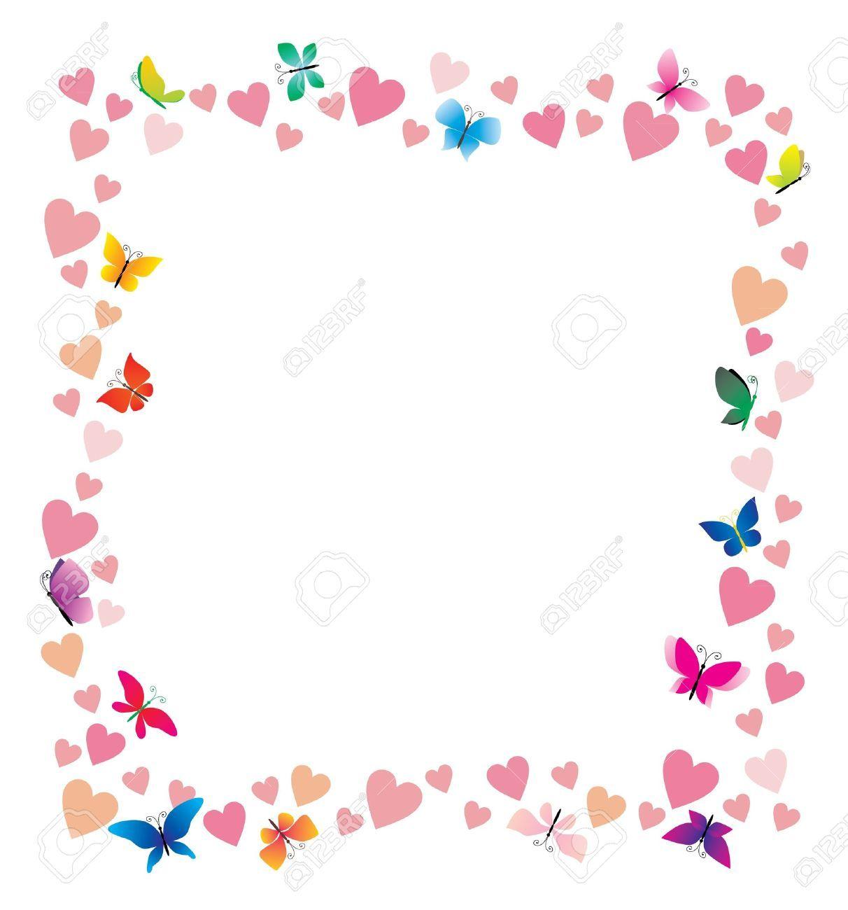 Bordes y marcos con mariposas buscar con google for Bordes creativos