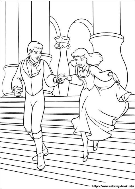 Coloriage Cendrillon Cinderella Coloring Pages Princess Coloring Pages Cartoon Coloring Pages