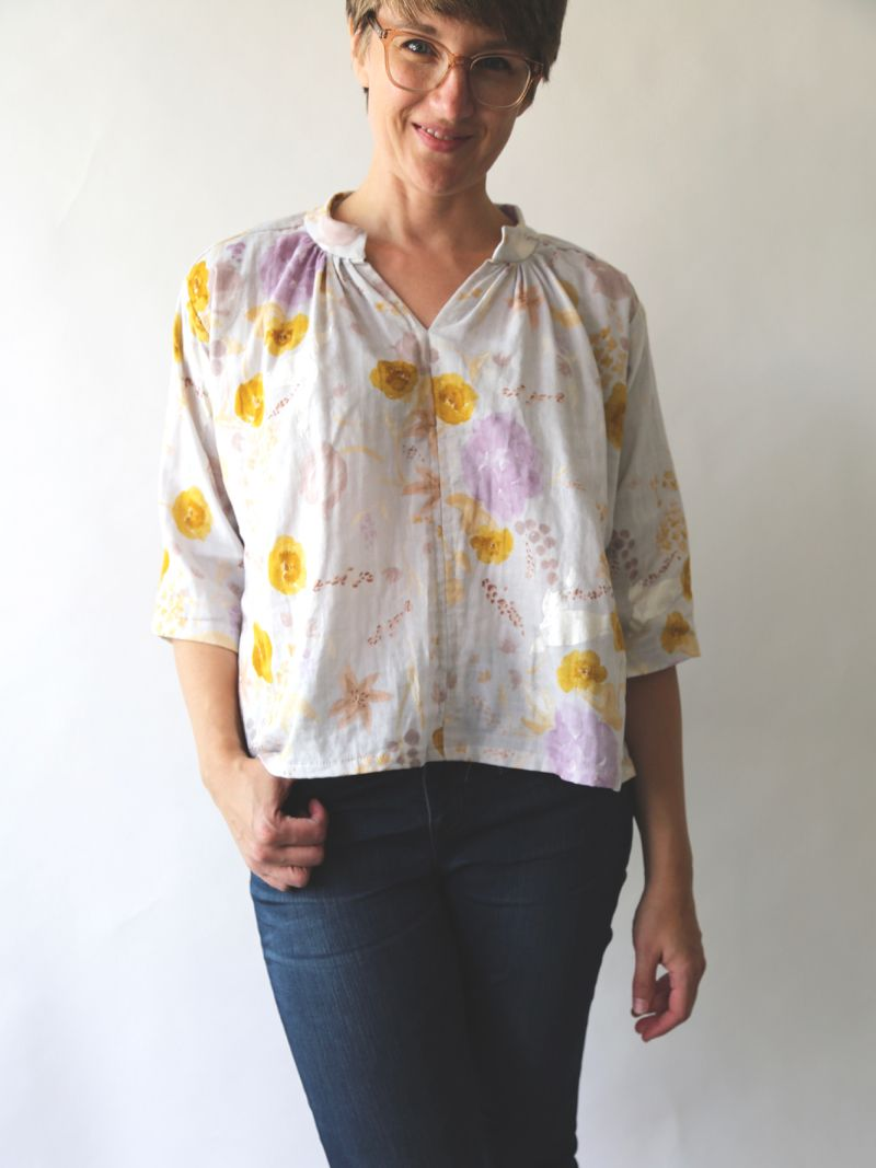 This time I made the Matcha Top (pattern by my dear friend Meg of Sew  Liberated) with this beautiful Nani Iro double gauze that I impulse-bought  last summer ... af500a7cdba1d