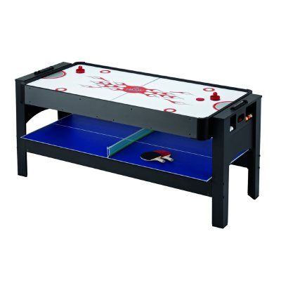 Carmelli 6 Foot 3 In 1 Flip Game Table Air Hockey Table Tennis