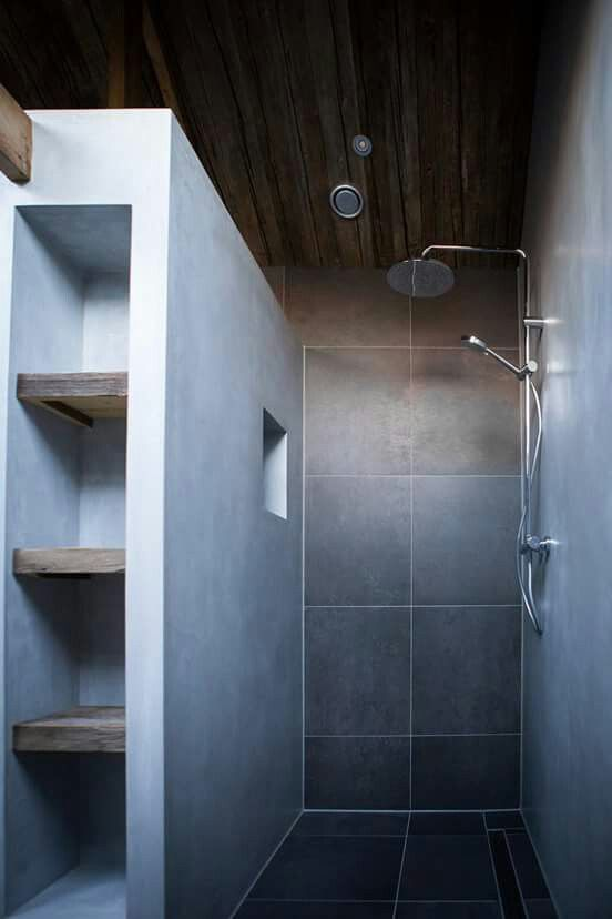 Mortex badkamer | badkamer | Pinterest | Begehbare dusche, Begehbar ...