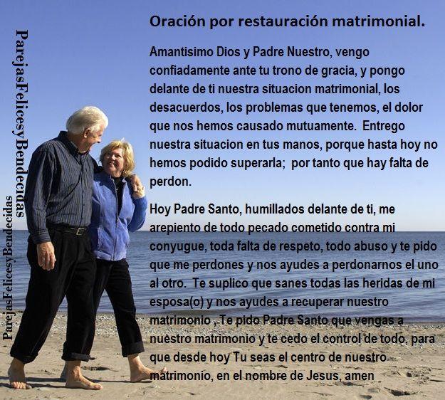 Oracion De Matrimonio Catolico : Oracion por restauracion matrimonial oracion restauracion