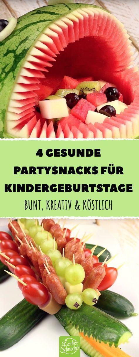 4 Rezepte für gesunde Party-Snacks zum Kindergeburtstag