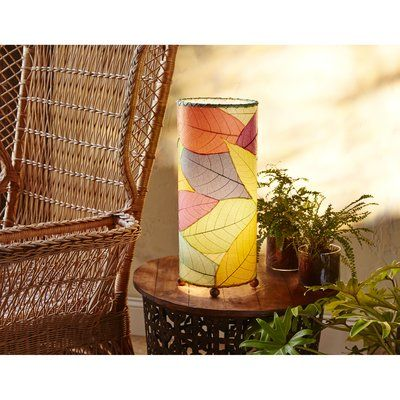 Eangee Home Design Outdoor Cocoa Leaf Cylinder 17 Quot Table