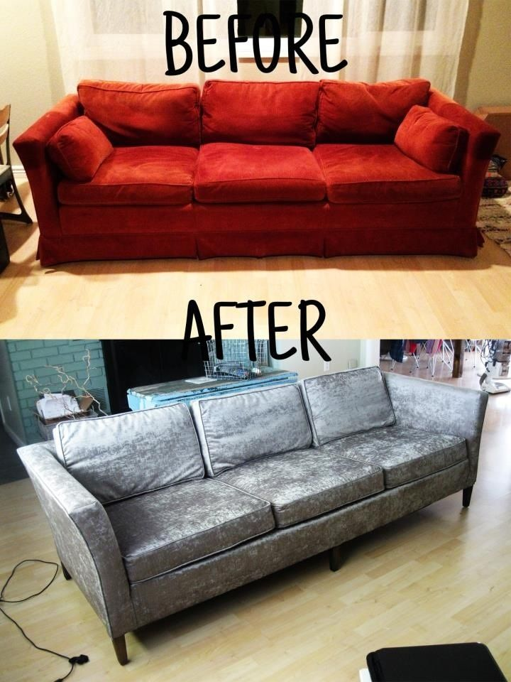 Before And After Pictures Of The Reupholstery Work Performed By Special Furniture Services Sfs Sofa Makeover Reupholster Furniture Reupholster Couch