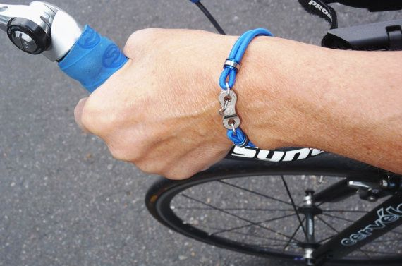 Personalized Race Bracelet Upcycled Bike By Unchainedseattle