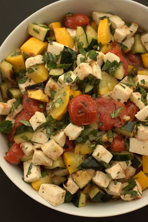Grilled Zucchini Caprese Salad | my kitchen addiction