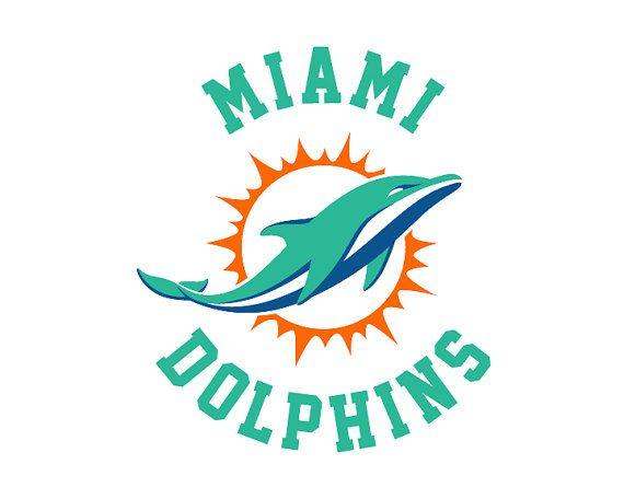 Miami Dolphins Cut Files Miami Dolphins SVG Files DXF Miami  4ddd2befc