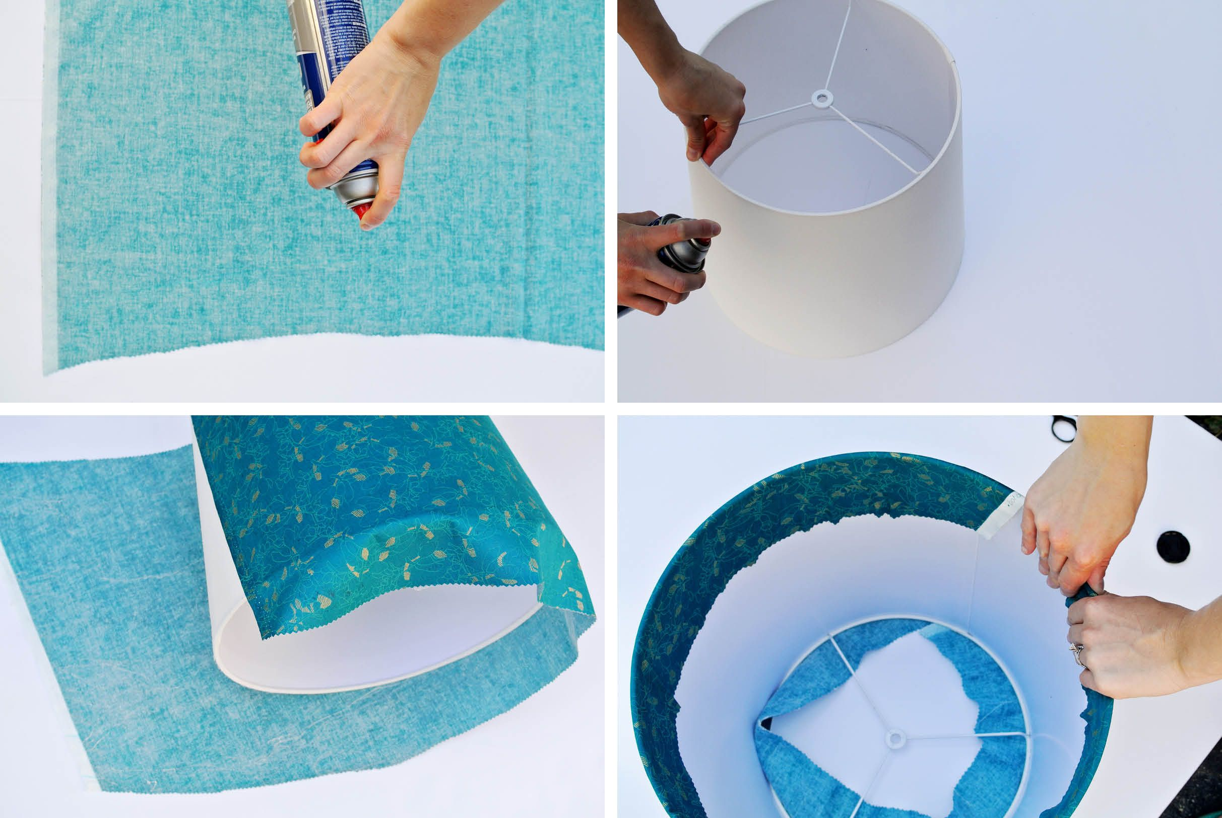 How To Cover A Lampshade With Fabric Fabric Lampshade Make A