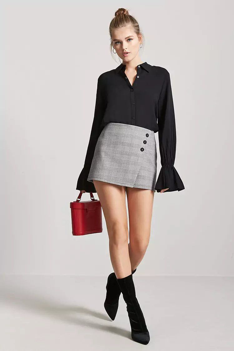 241c80d709 Bell-Cuff Button-Front Shirt | forever 21| contemporary | Shirts ...
