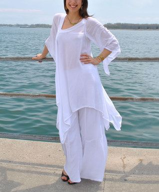 White Global Groove Tunic