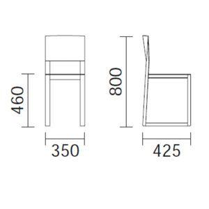 Silla de madera brera sillas de comedor de madera for Medidas silla comedor