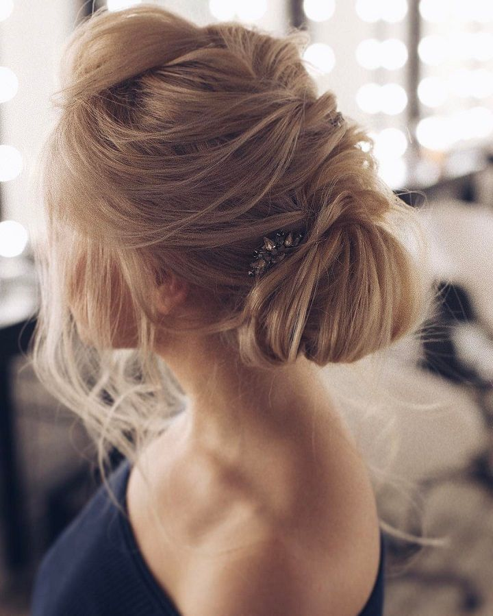 Beautiful Messy Bridal Hair Updos Bridal Hair Messy