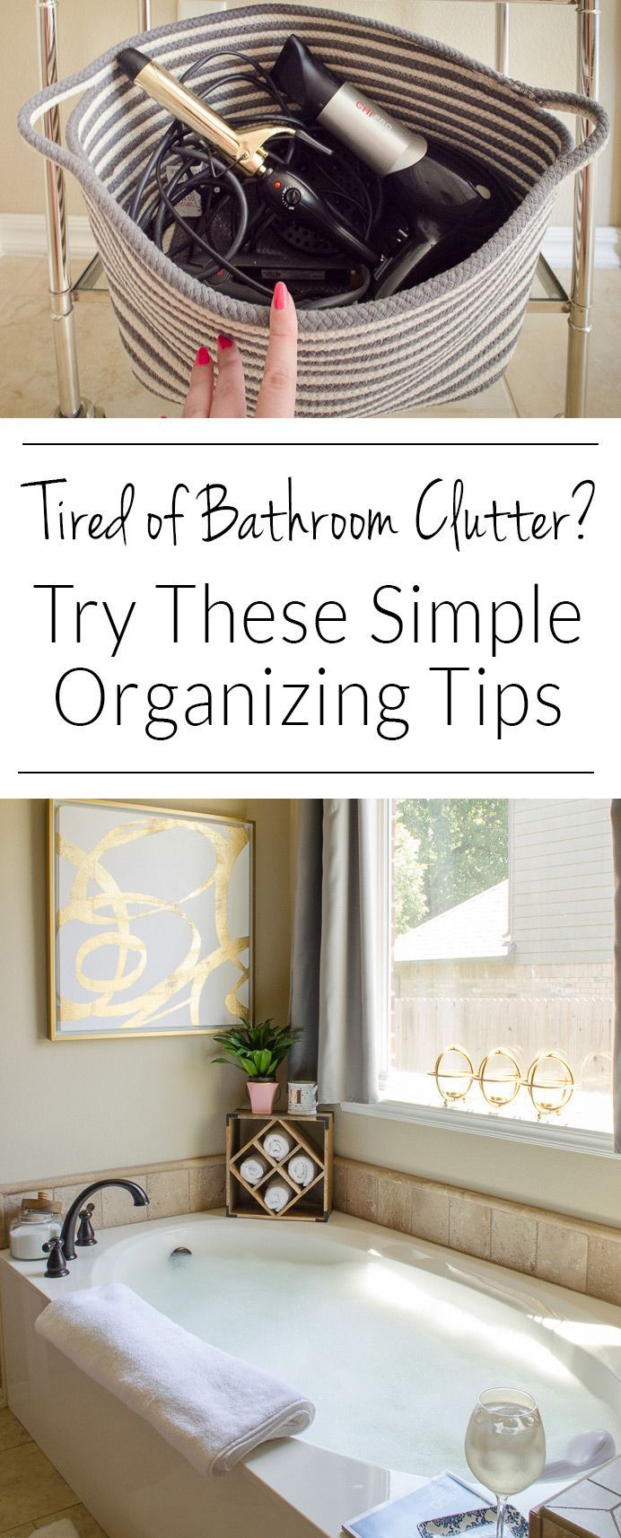 how to organize the master bathroom in style  polished