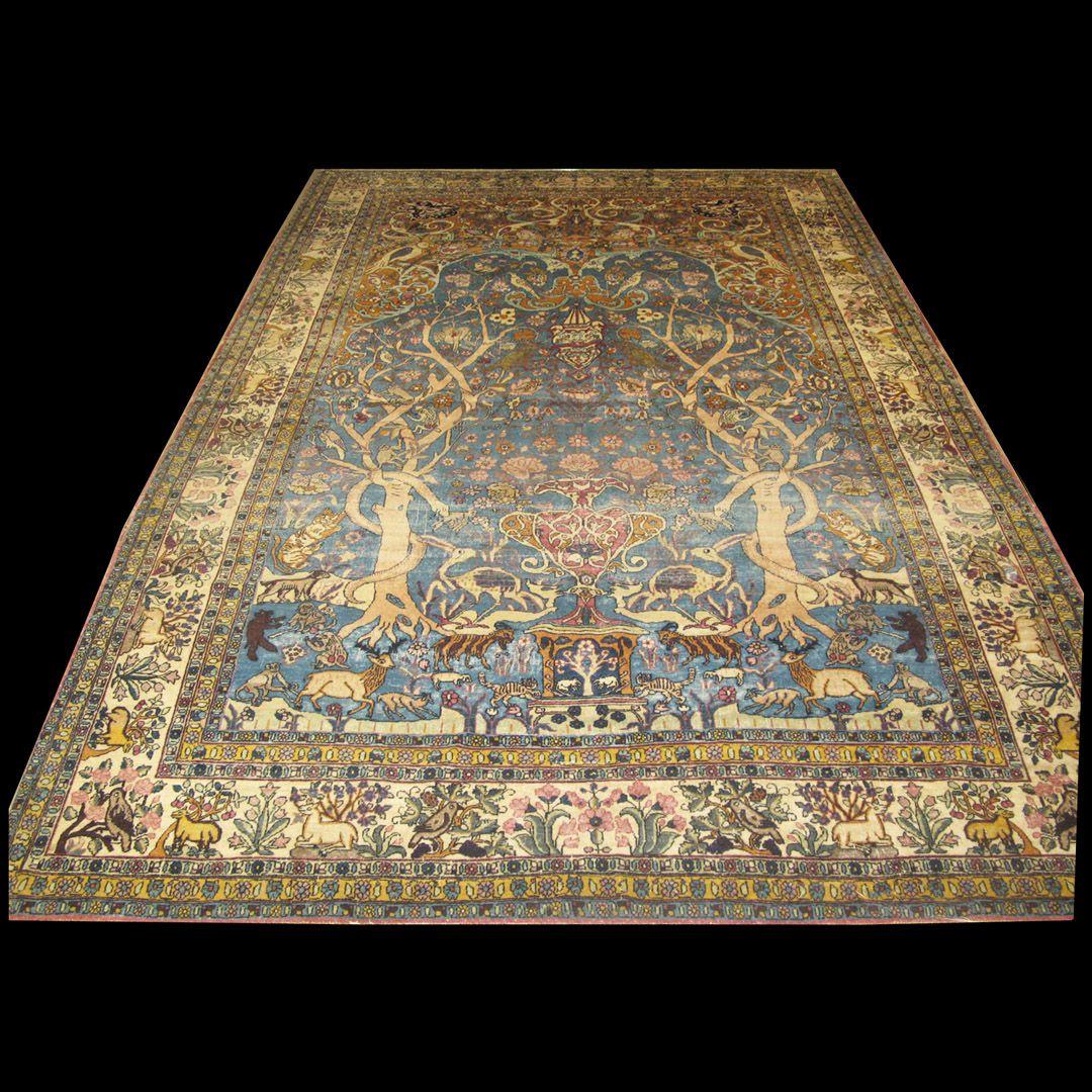 Tabriz Rug - 40-2397 | Persian Formal 7' 0'' x 10' 0'' | Light Blue, Origin…