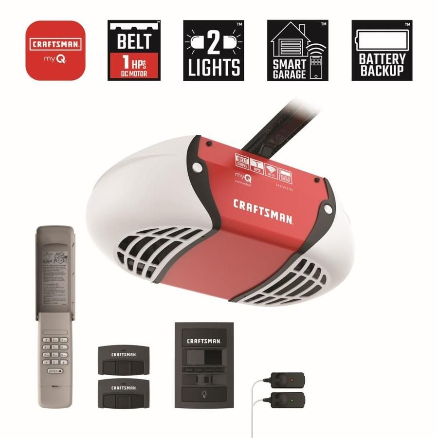 Craftsman 1 Hp Craftsman Belt Drive Garage Door Opener Works With