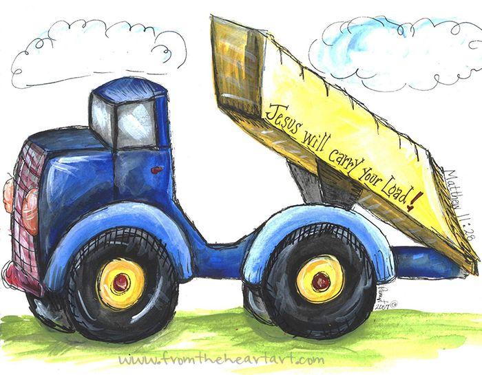 Dump Truck Print (Matthew 11:28)