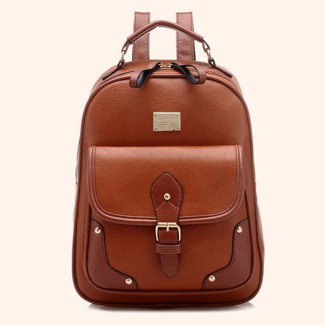 abdf2a873d75 2017 Fashion Women Backpacks Ladies Leather Backpack Casual School Bags  Teenagers Girls Vintage Female Travel Backpack Mochilas