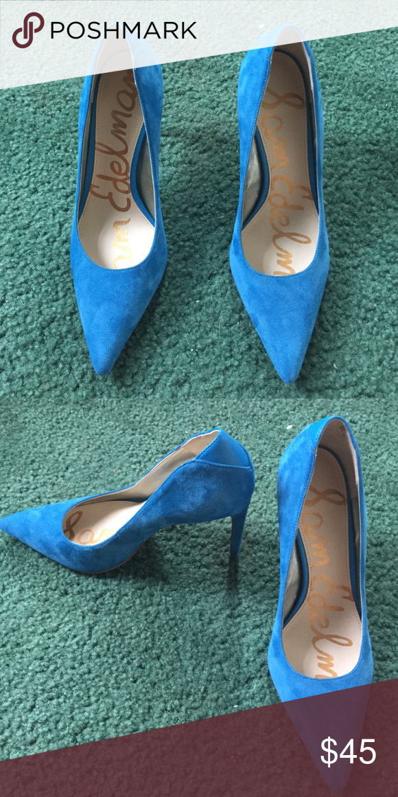 Sam Edelman pumps Never worn, size 6. Blue Sam Edelman pumps Sam Edelman Shoes Heels