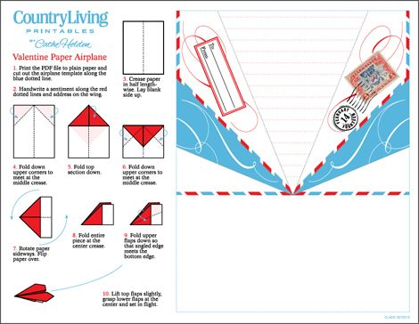 graphic regarding Printable Paper Airplanes named Paper Plane Valentine (flip into occasion invitation
