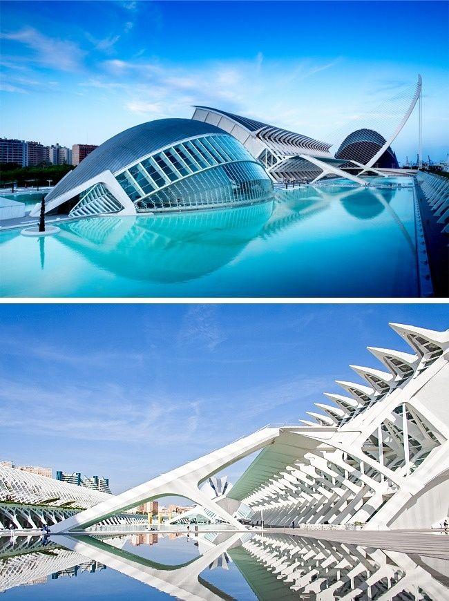 Ciudad De Las Artes Y Las Ciencias De Valencia España Building Movement In Architecture Futuristic City