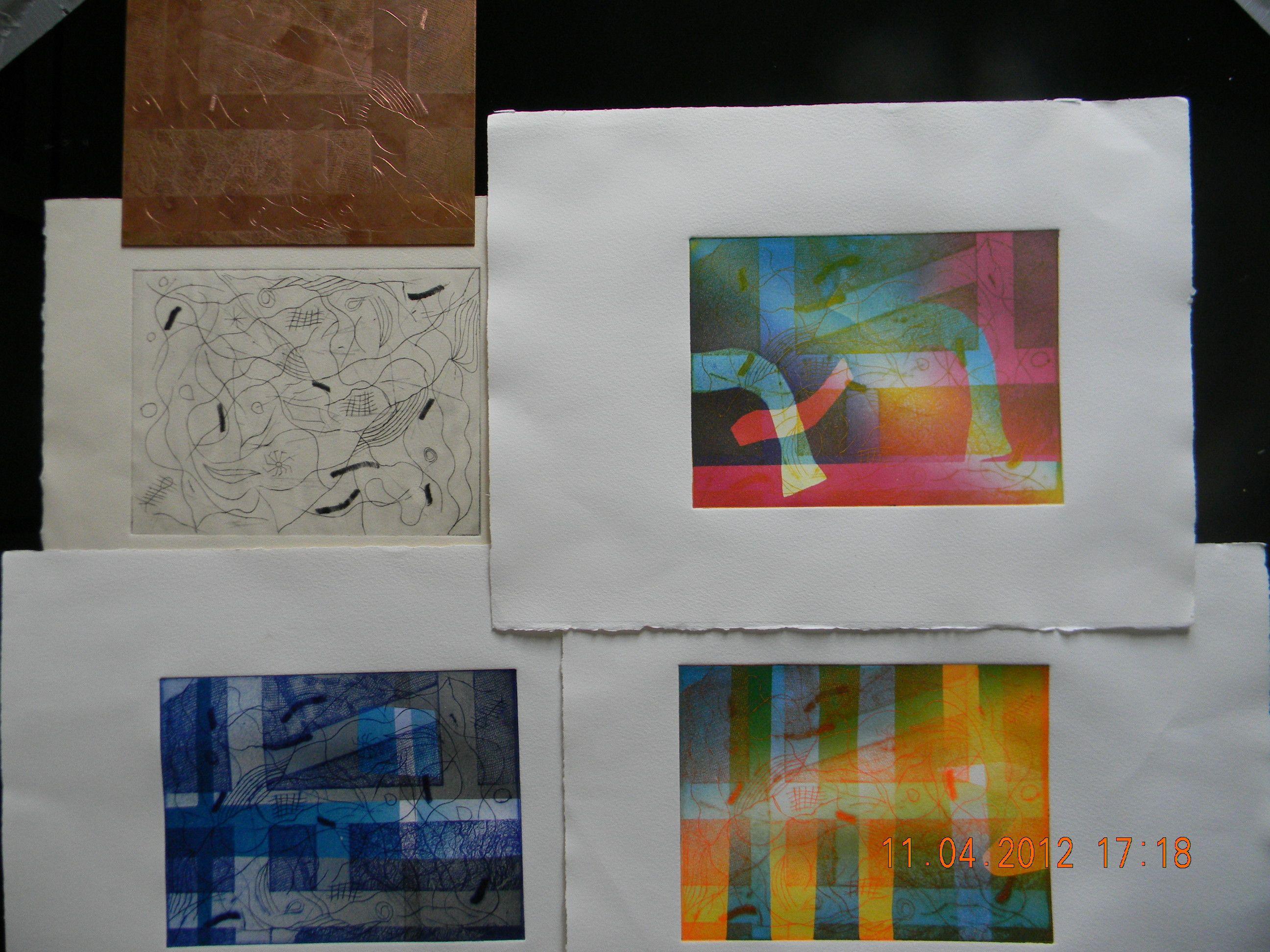 plaque gravée et des gravures