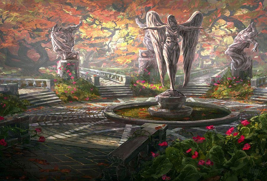 The Garden Fantasy Concept Art Fantasy Landscape Fantasy City