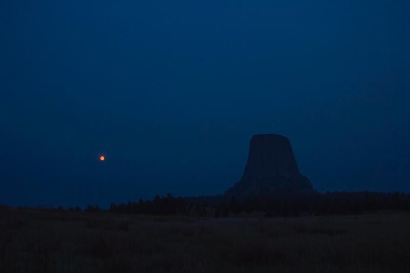 """Devils Tower, or Mato Tipila, which means """"Bear Lodge,"""" in Lakota, is a volcanic neck that rises 1,267 feet from the Black Hills in northeastern Wyoming. (Courtesy National Park Service/Avery Locklear)"""