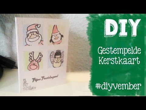 Diy schattige simpele kerstkaart stempelen! Makkelijke techniek om een aparte kaart te maken