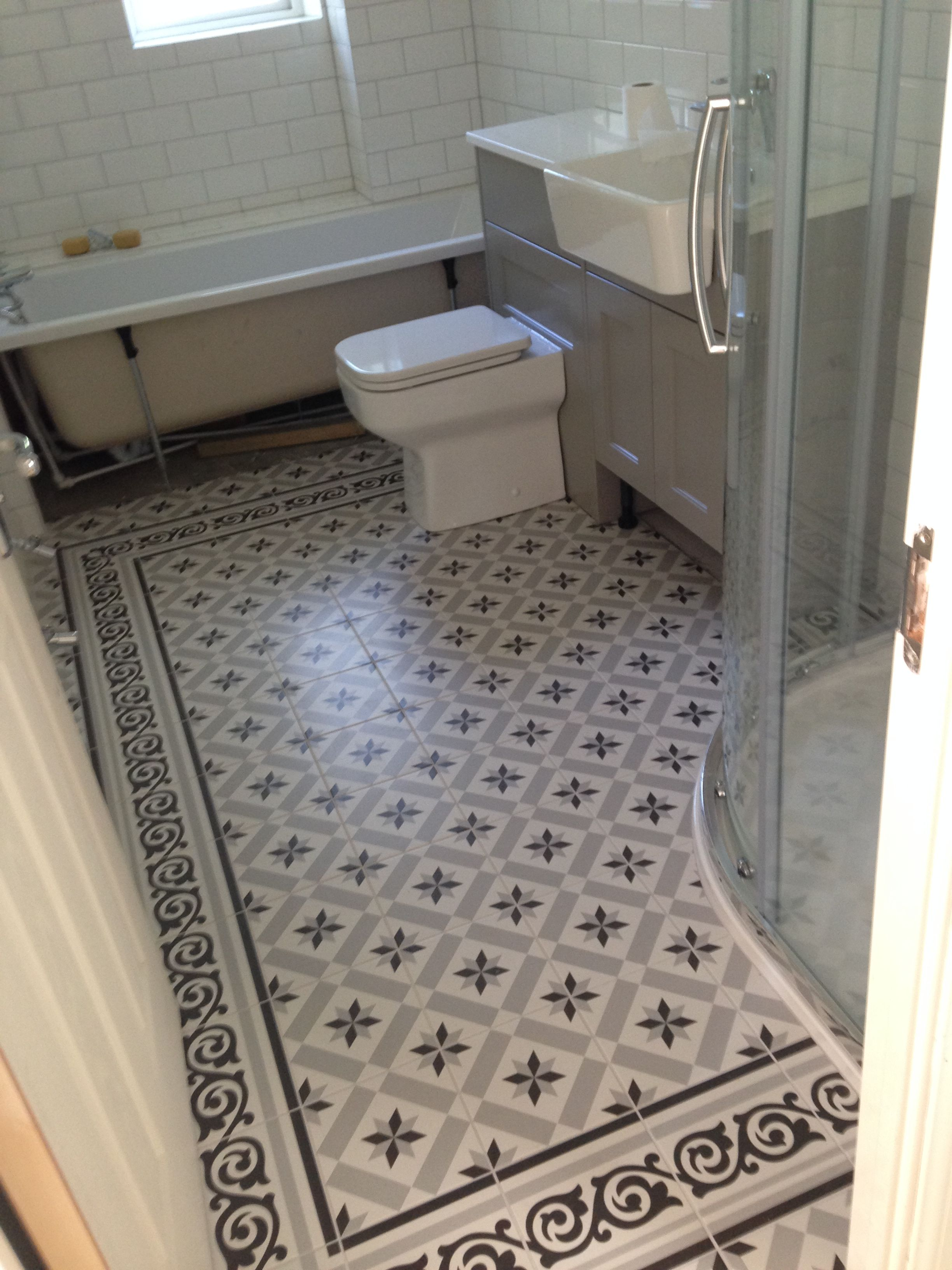 Fired Earth Patisserie Sucre Tiles Propertylc Tile Bathroom Victorian Bathroom Hallway Flooring