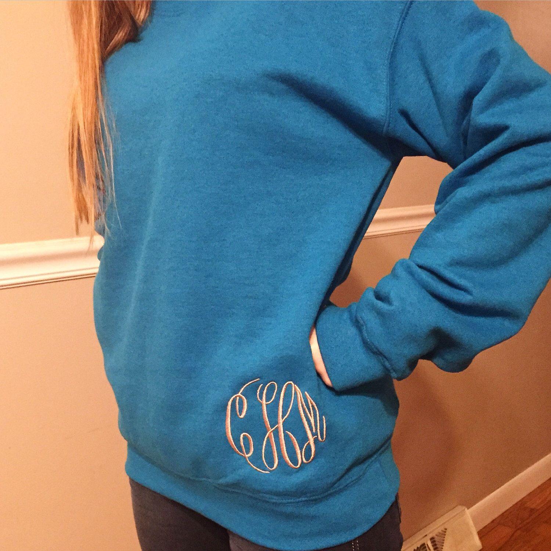 Lower monogram crewneck sweatshirt by BehindTheSeamsKY on Etsy https://www.etsy.com/listing/220409128/lower-monogram-crewneck-sweatshirt