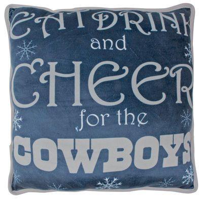 Dallas Cowboys 4040 X 4040 Holiday Cheer Pillow Pinterest New Dallas Cowboys Decorative Pillow
