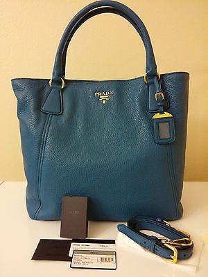 93ae241cf0e4 NEW Prada Vitello Daino Leather Bag, Cobalto Blue Tote / Shoulder / Shopper  Not usually one for such high-end bags, but loving the color and shape of  this ...