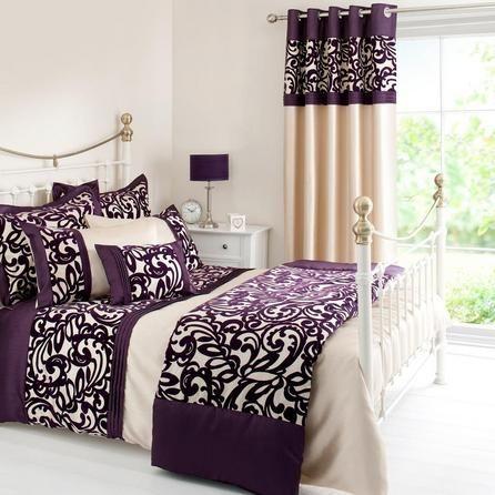 Plum Baroque Flock Collection Duvet Cover Dunelm Bed Duvet Covers Plum Bedding Bed
