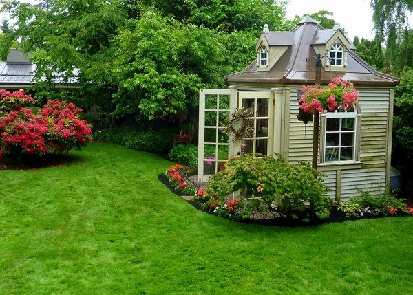 adorable garden house flower beds french doors diy garden sheds