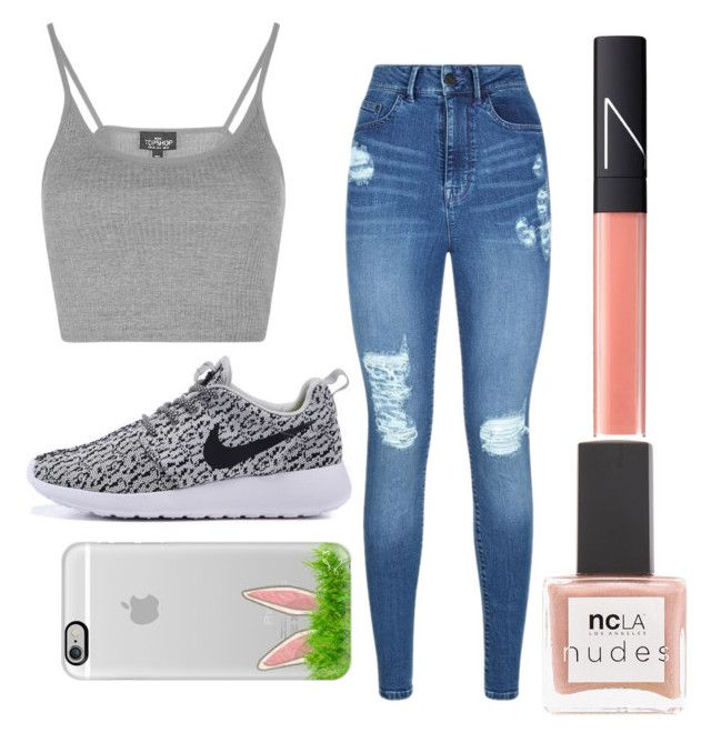 """Untitled #39"" by dope-expert ❤ liked on Polyvore featuring Topshop, Lipsy, NARS Cosmetics, Casetify and ncLA"