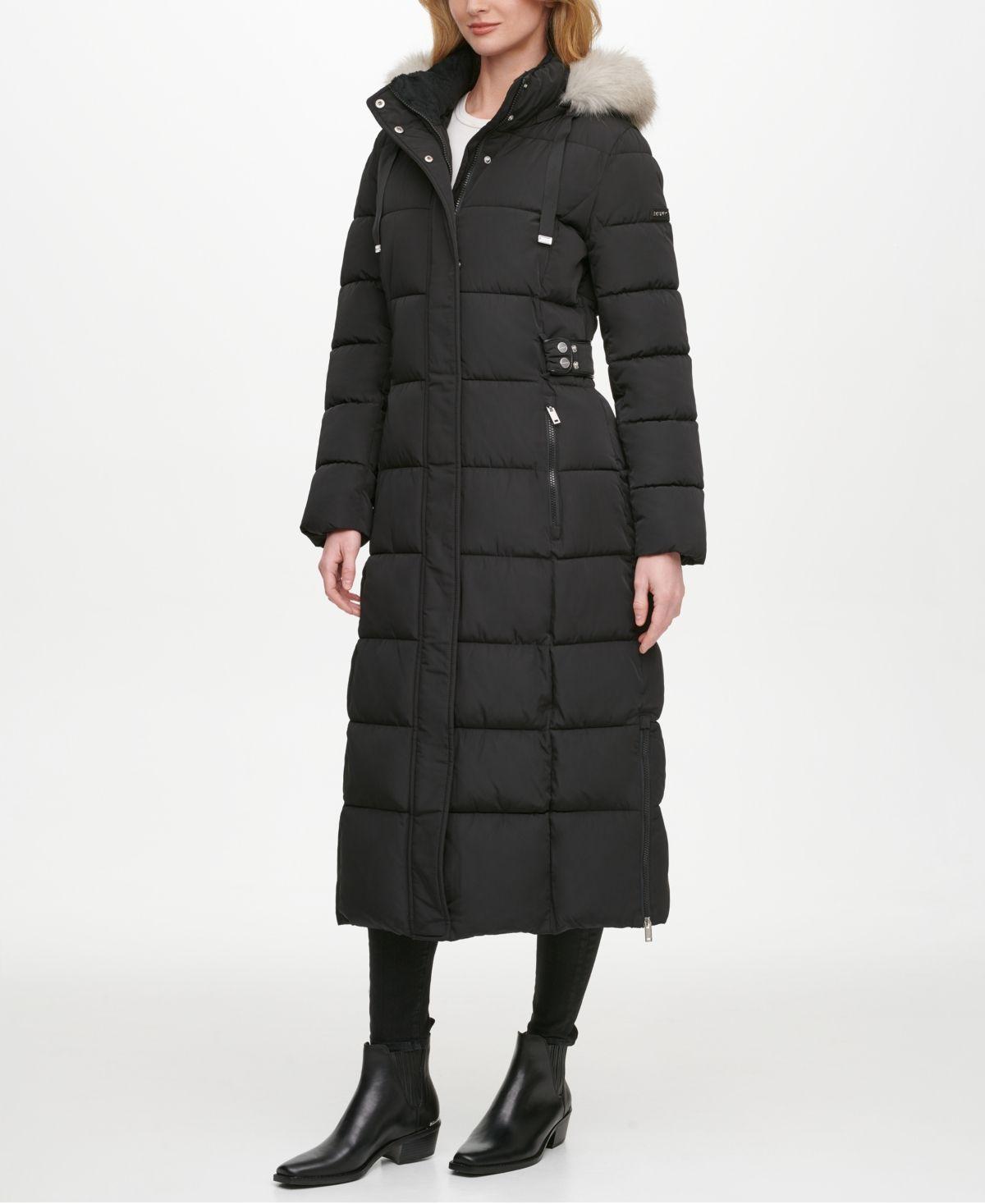 Dkny Faux Fur Trim Hooded Maxi Puffer Coat Reviews Coats Women Macy S In 2021 Maxi Coat Puffer Coat Coats For Women [ 1467 x 1200 Pixel ]