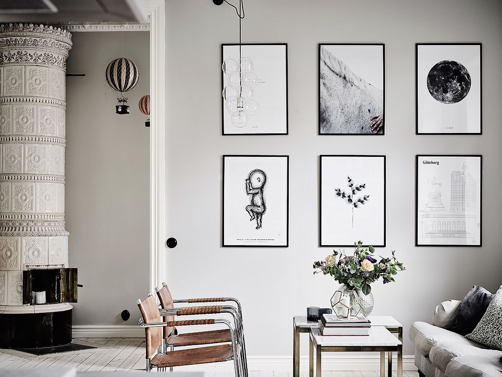1950's home interior design gallery wall  gallery wall ideas  pinterest  interiors white