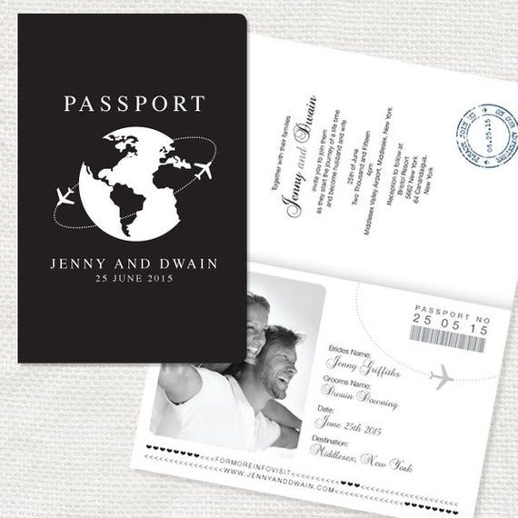 Come fly with me passport wedding invitation or ceremony program – printable file airplane, airforce, aviation, travel, destination wedding