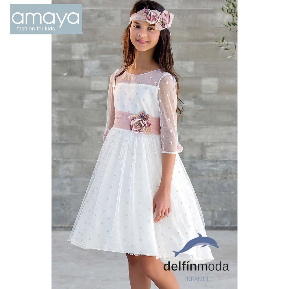 1cf725373b Vestido de ceremonia AMAYA 2018 para niña modelo 111821